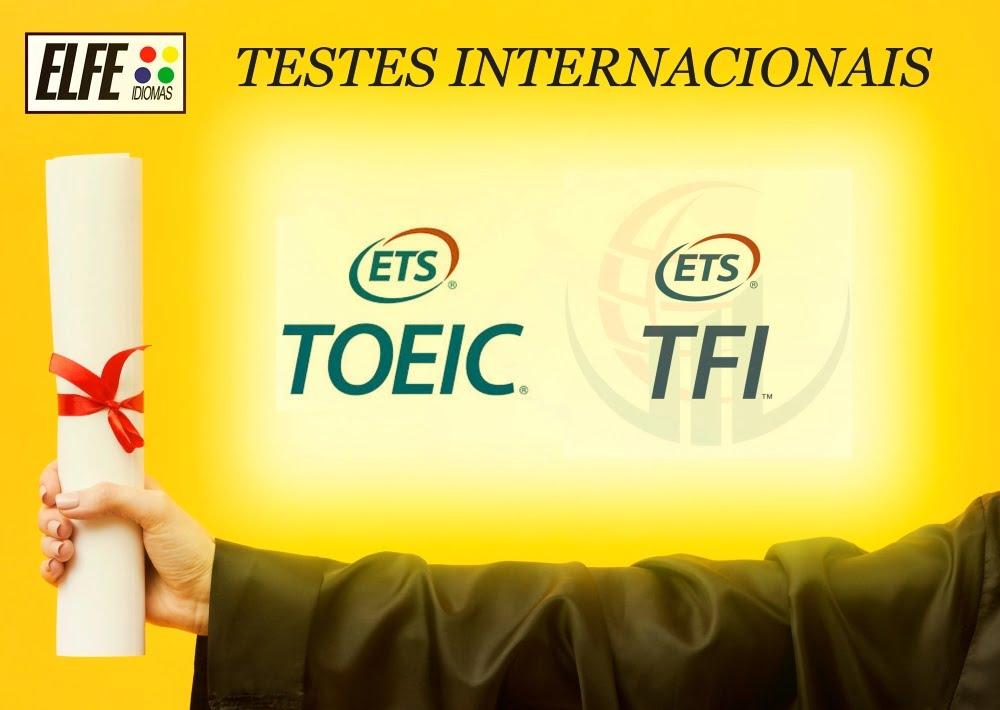 Testes Internacionais de Proficiência em Inglês e Francês